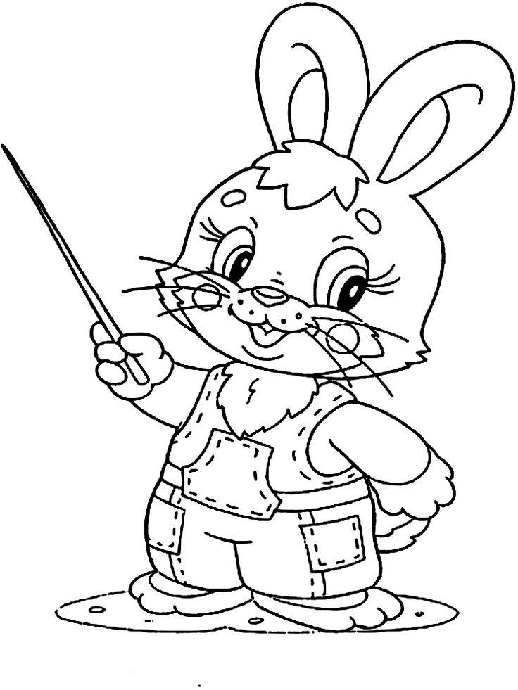 Dibujo de conejos para colorear
