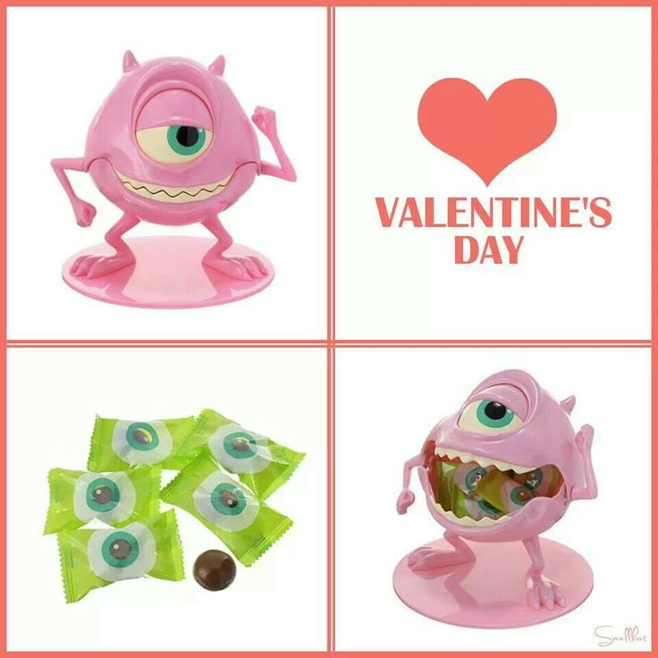 Disney Japan Valentine's day limited edition!  Monsters Company/ Monsters University Pink color Mike Wazowski Candy holder