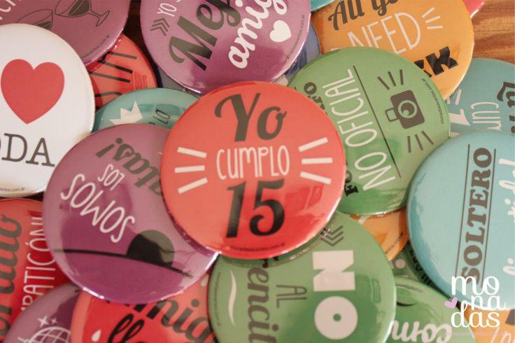 Pins para 15 años | http://www.monadaseventos.com.ar/pins-para-15-anos/
