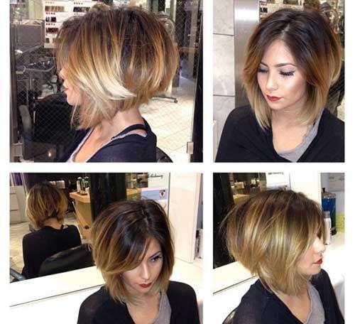 short stacked layered bob hairstyles