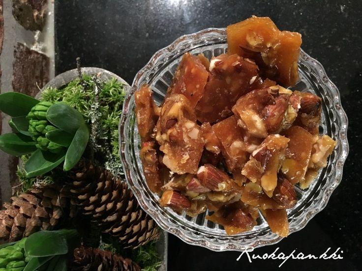 Ruokapankki: Pähkinänougat #nougat #ruokapankki #ruokablogi #sweet #makeinen #joulu #christmas