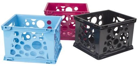 Micro Crates, Assorted Colors (Case of 18) Case Dimensions: 20.25 L x 11.75 W x 10.1 H