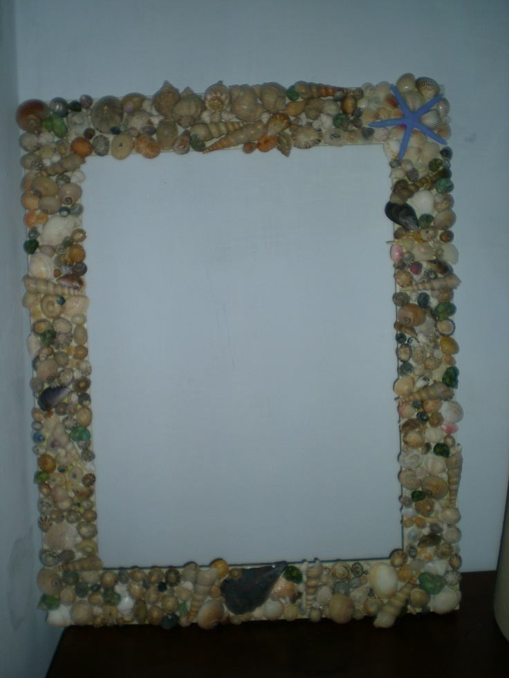 another big shell frame for bathroom mirror collage 14394