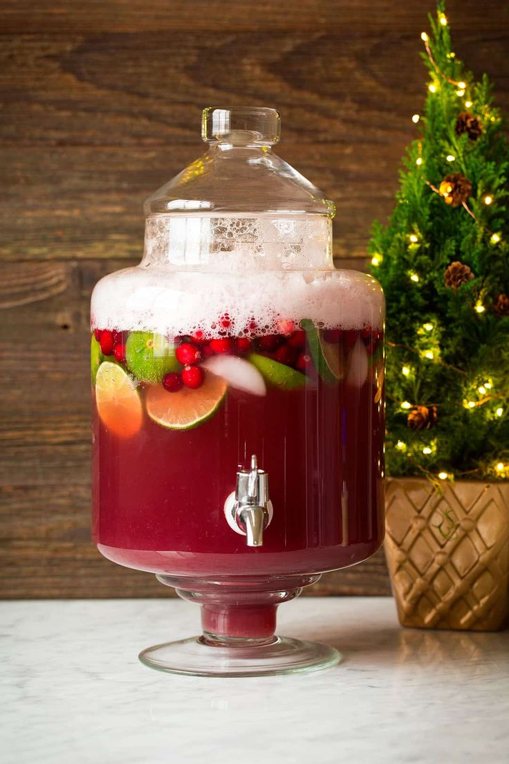 This Christmas Punch has been my go-to holiday drink for 10+ years! It's so delicious and perfectly festive! And it only takes minutes to make.