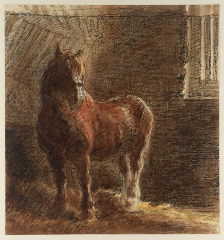 William Henry Hunt (1790-1864) - A Horse in a Stable
