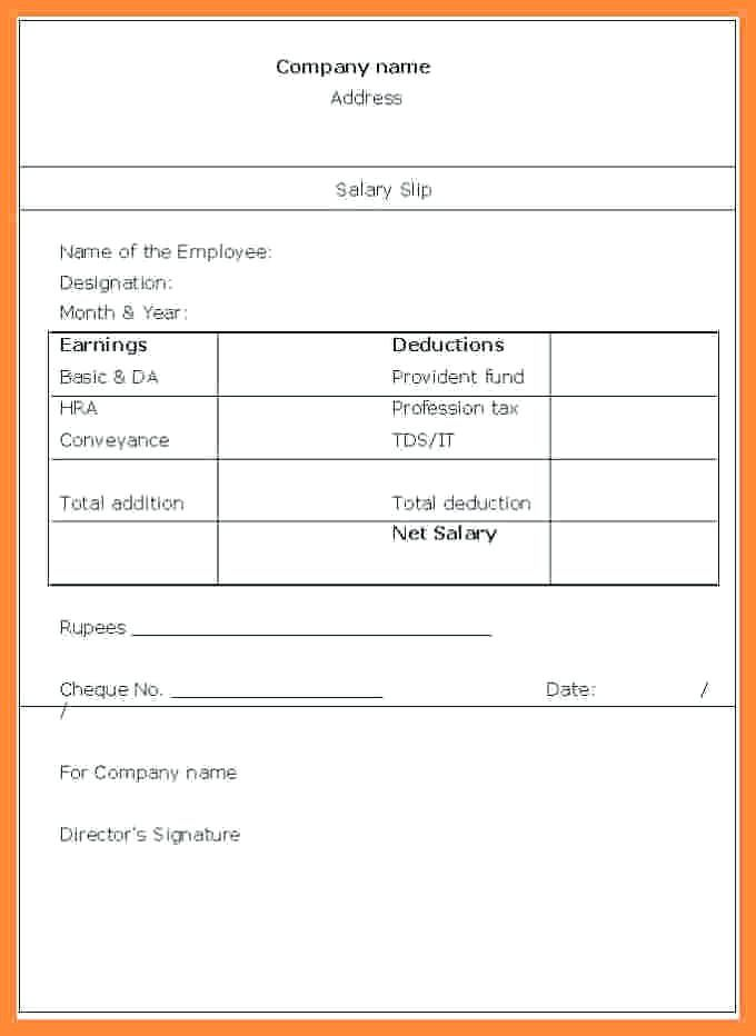 15 Payslip Template Uk Excel Paystub Confirmation Payroll