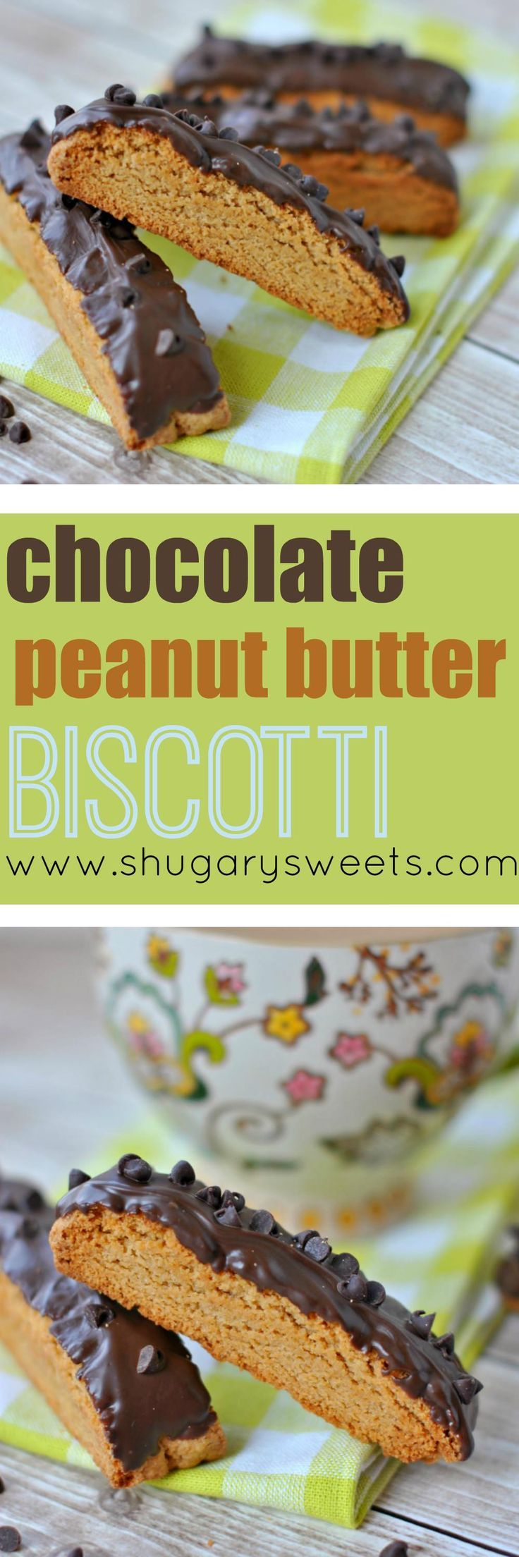 Everyone loves the perfect marriage of chocolate and peanut butter, right? This Chocolate Peanut Butter Biscotti is a crunchy cookie...for BREAKFAST! You're welcome.