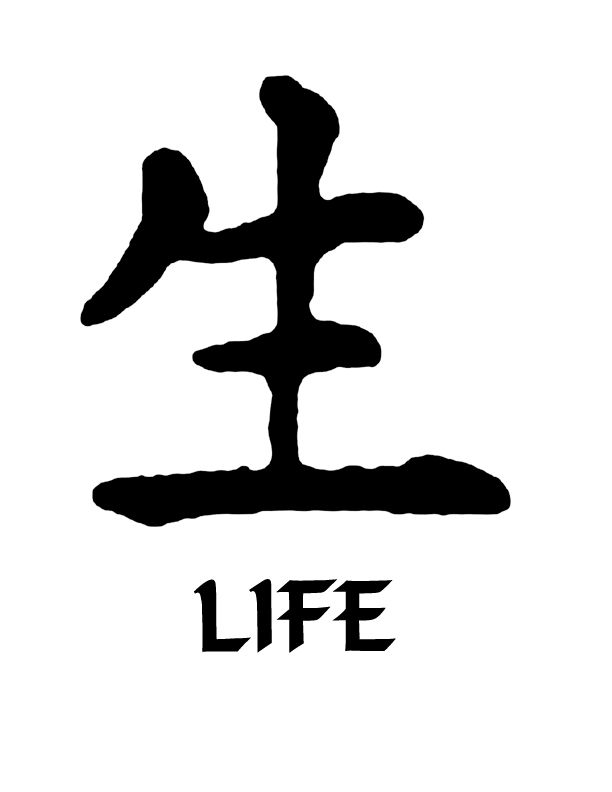 All Decals :: Kanji Symbols :: Life Kanji Symbol Vinyl Decal