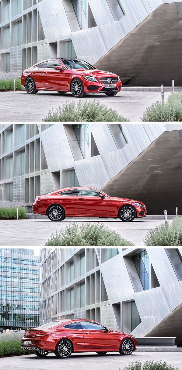 As the sportiest variant of the C-Class, the Coupé displays its driving enjoyment-oriented character in an emotive and at the same time formally distinct design.