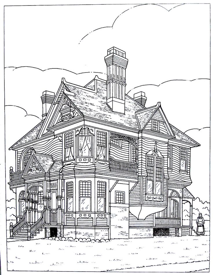 victorian mansion coloring pages - photo#16