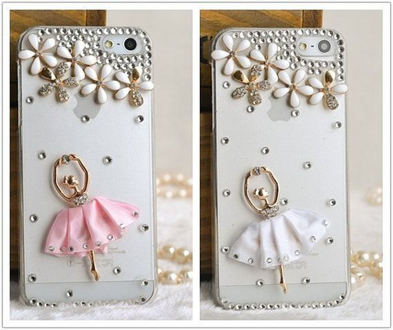 Superior Crystal Flowers Ballet Girl Case for iPhone 5 5s 6 6 plus