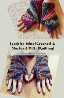 Fingerless gloves knitted flat around the thumb - Free patterns (#knit and #crochet) by Knitting and so on