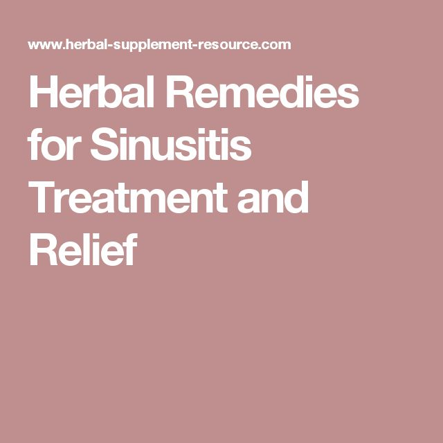 Herbal Remedies for Sinusitis Treatment and Relief