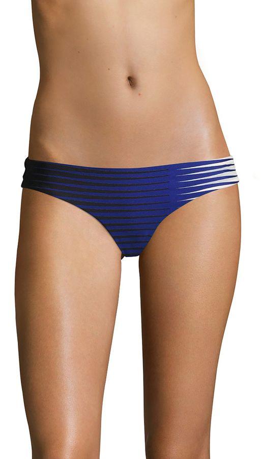 La Perla Women's Striped Front Brazilian Bikini Bottom