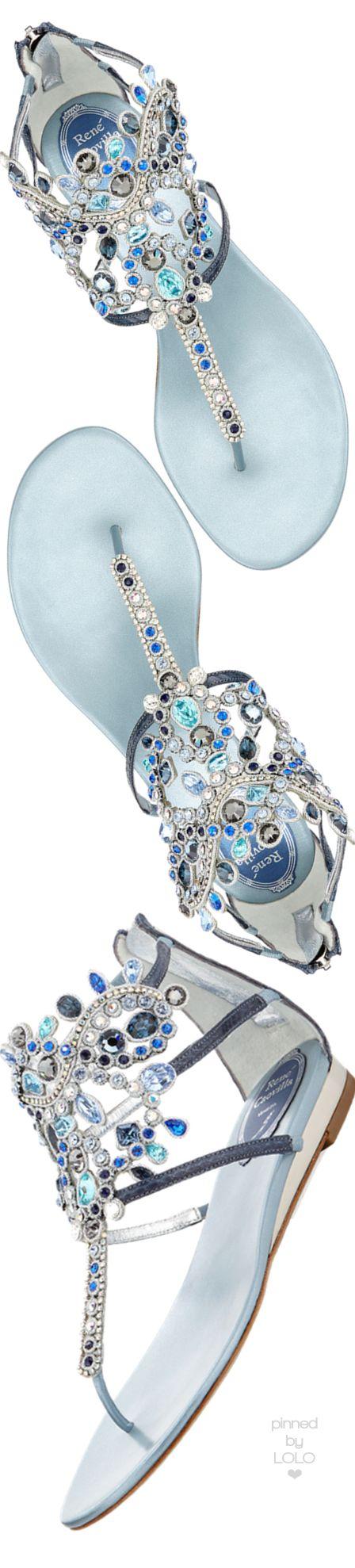 Rene Caovilla Crystal-Chandelier Thong Sandal | LOLO❤︎