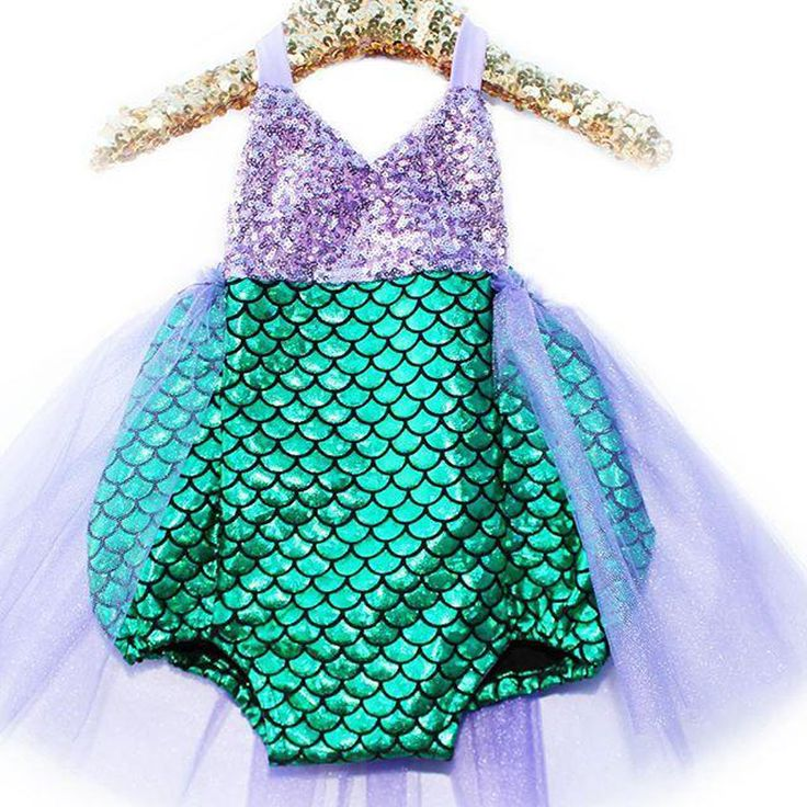 Girl Swimwear Mermaid Bikini Swimsuit Kids Sequined Swimming Suit For Girl Children BathingSuit Girl Costume one piece wholesale