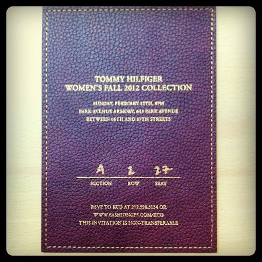 Fashion Week Invite 2012 ~ A leather invite for Tommy Hilfiger.