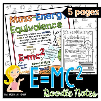 Help your students master the concepts of Mass-Energy Equivalence, E=mc, atmic mass unit, binding energy, mass defect, binding energy and energy released in a nuclear reaction - all with this creative doodle note review.You will receive the 5 pages of doodle notes in PDF format, as well as full solutions in color.