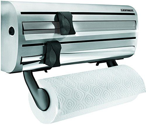 Leifheit Comfortline Parat Royal Wall Mounted Kitchen Foil and Cling Film Roll Holder Stainless Steel L 9 cm x W 38 cm x H 16 cm Leifheit http://www.amazon.co.uk/dp/B000B8KYO8/ref=cm_sw_r_pi_dp_tfXnvb1QFDCQF