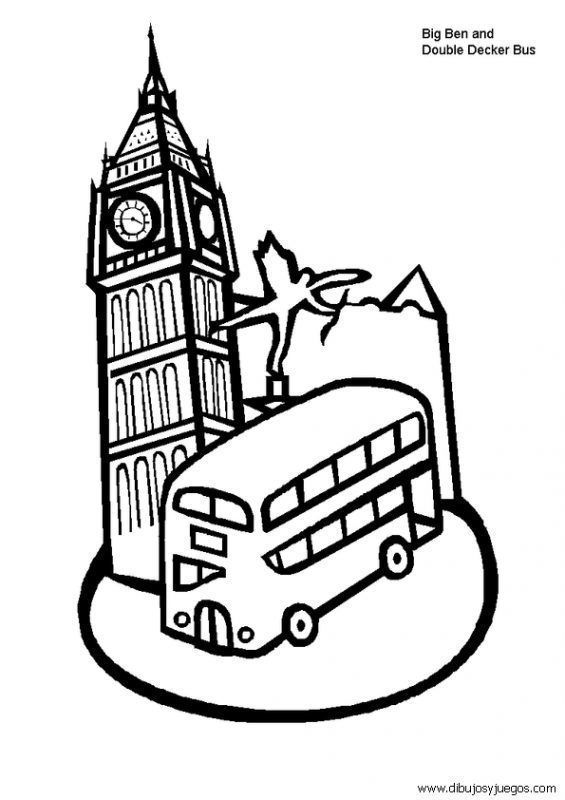 Dibujos De Londres Para Colorear Coloring Pages Big Ben Clock Pictures Of England