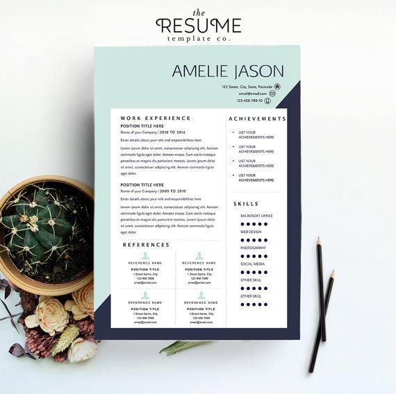 Resume Template / CV Template and Cover Letter Package by TheResumeTemplateCo