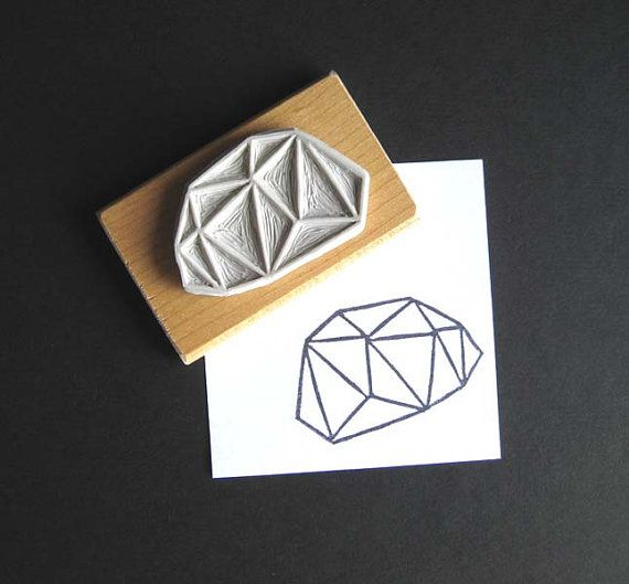 Crystal Configuration 19 - Hand Carved Stamp from estase on Etsy