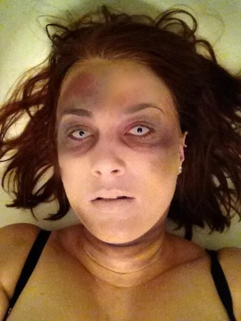 corpse makeup done completely without costume makeup except for contacts i used - Where Can I Get Halloween Makeup Done