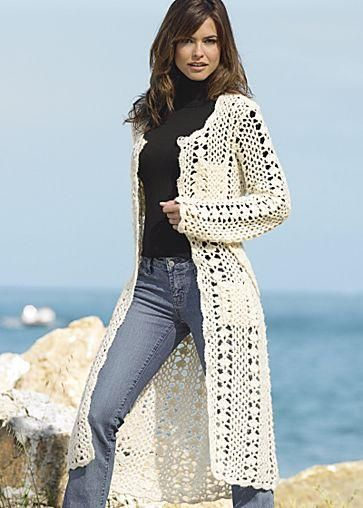 crochet coat - wow!