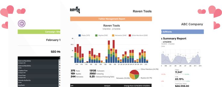 Raven Marketing Reports  Web Analytics    Marketing