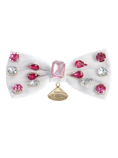 GEMMA LISTER Brooch: Brooches 63, Lister Pink, Bows Brooches, Brooches White, Gemma Lister, Lister Brooches, Cotton Brooches, Bejewel Bows, Brooches 60