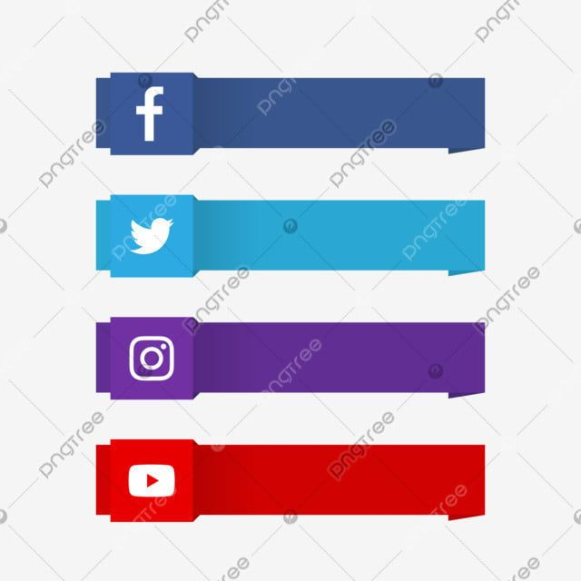 Modern Social Media Lower Third With Logo Logo Clipart Modern Banner Png And Vector With Transparent Background For Free Download Digital Media Design Social Media Lower Thirds