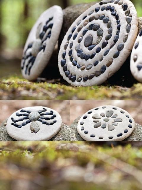 Cute. Won't fade like the colored stones you use!