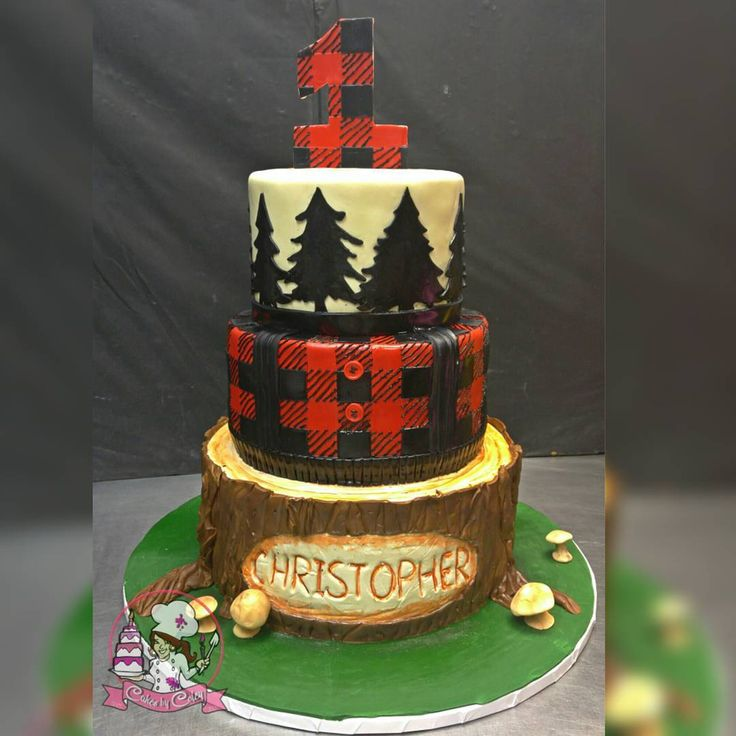 Lumberjack 1st Birthday Cake! #Cake #customcakes #cakeboss #Coley #cakesbycoley #instacakes ...