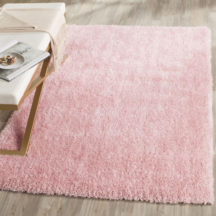 Safavieh Toronto Handmade Pink Shag Rug (3' x 5') (SGTW711M-3), Size 3' x 5' (Polyester, Geometric)