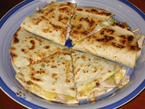 Baked quesadilla, just subtract the ranch