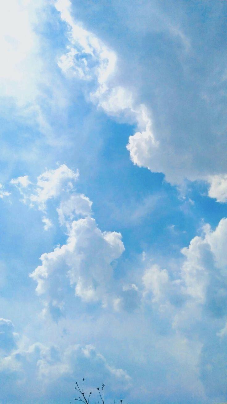 Blue Sky Latar Belakang Pastel Pemandangan Abstrak Gambar Latar Belakang