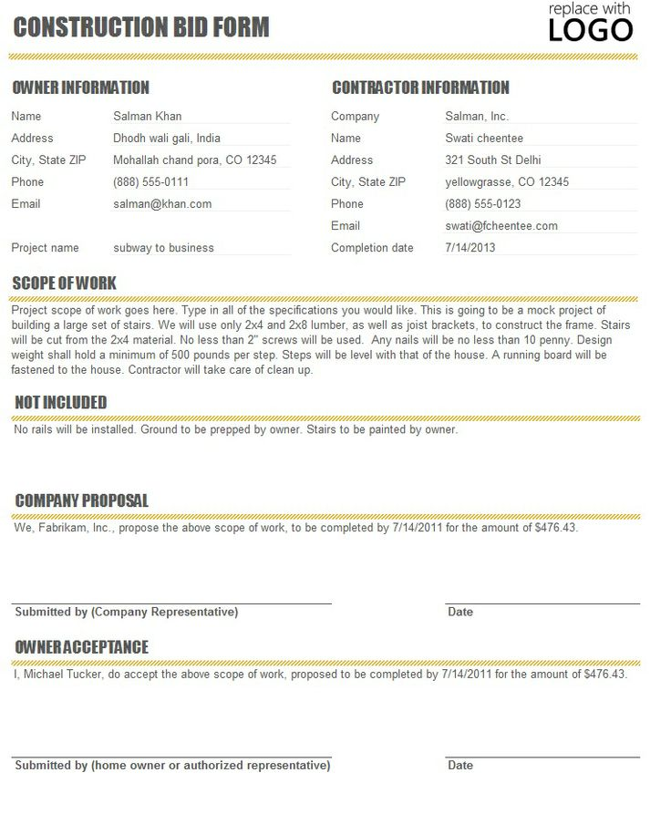 Contractor Proposal Template. Business Proposal Template Business ...