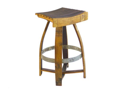 how to make a stool out of a wine barrel