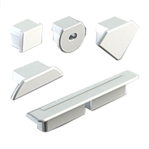 Abdeckkappen in grau für verschiedene Aluprofile Stückpreis