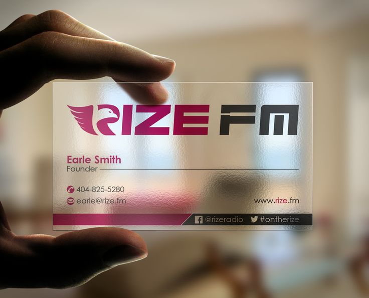 Best 25 clear business cards ideas on pinterest transparent create clear business card design for an edm internet radio station by designc reheart Choice Image