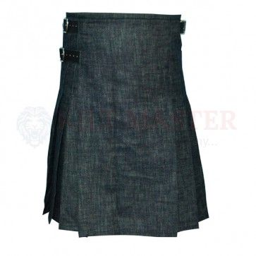 Men Scottish Design Black Denim Sport Kilt is specially designed for sport and games. Scottish Design Black Denim Sport Kilt give you ease while working as well. Black Denim Sport Kilt is also well worth to attend the VIP Family functions and parties. Men Black Denim Sport Kilt is perfect choice for your wardrobe as your favorite Kilt.