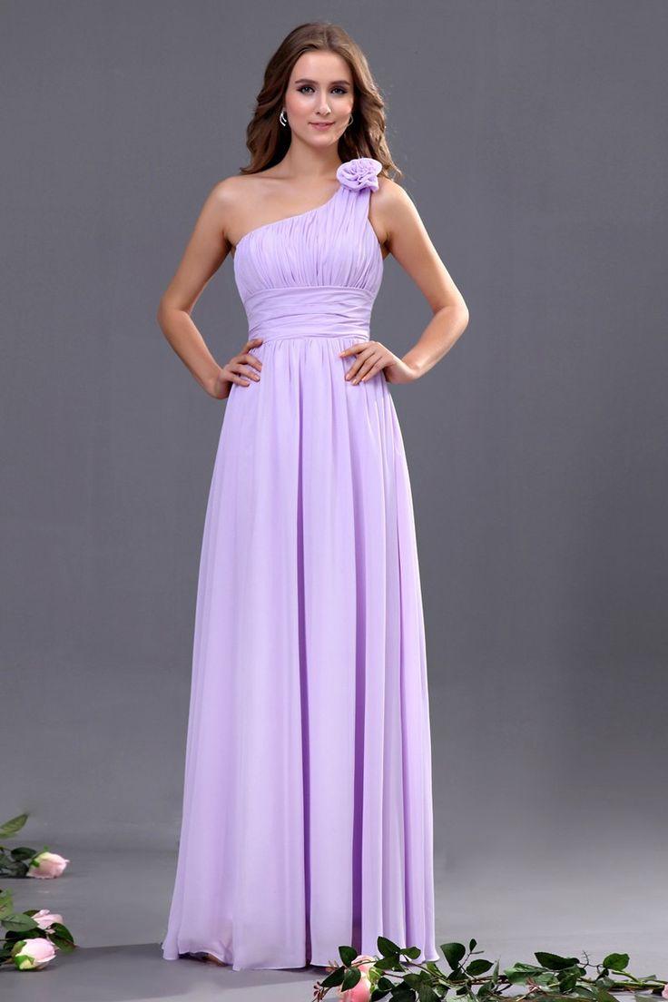 Pink One Shoulder Bridesmaid Dresses Gallery - Braidsmaid Dress ...