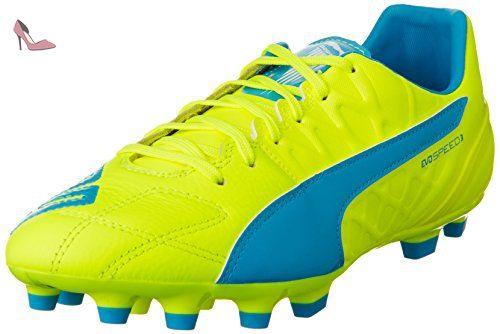 Puma Evopower 1 3 FG - Chaussures de Football - Homme - Multicolore (Safety Yellow/Black/Atomic Blue) - 46 EU (11 UK) dKHLbafPjS