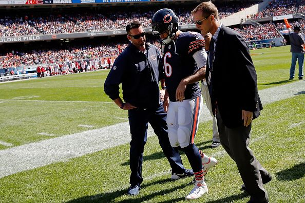 Bears vs Cardinals -   CHICAGO — Carson Palmer threw for four touchdowns to lead the Arizona Cardinals to a 48-23 victory over the Chicago Bears, who lost Jay Cutler to a hamstring injury Sunday. Palmer connected with La...
