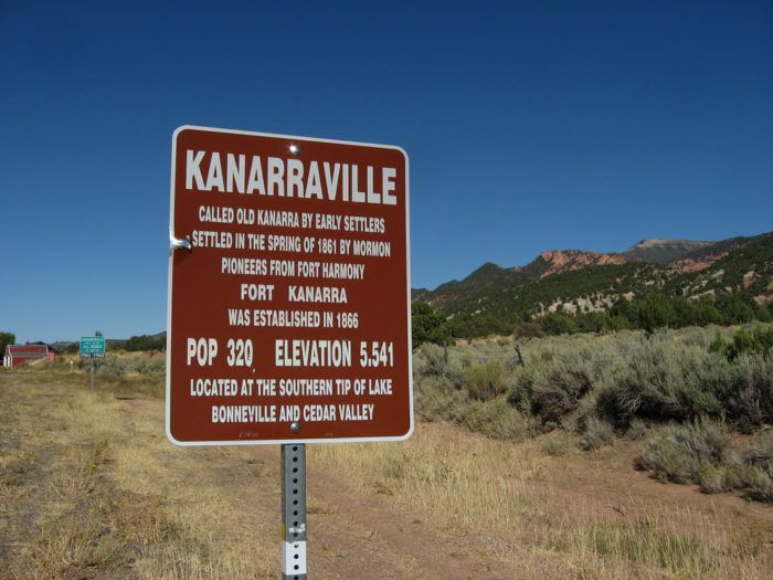 Kanarraville is located in Iron County.
