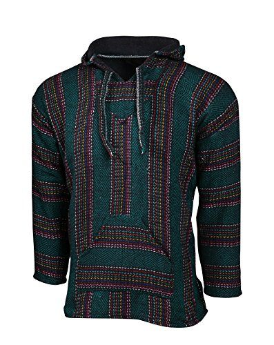Made popular with the hippie and surf cultures of Baja California in the 70s these classic Baja Hoodies'Jergas' have become one of the most popular Mexican style products of all time. Not only are t...
