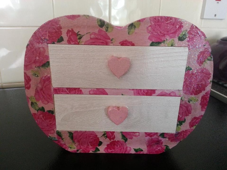 Small Decoupage Trinket Box