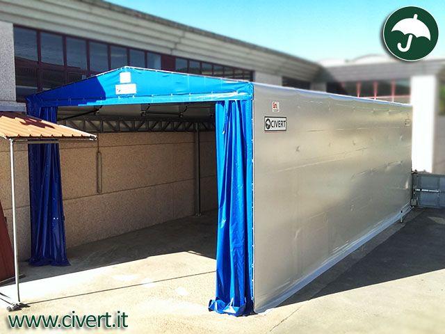 capannoni mobili con coperture in pvc bipendenza per Icar #coperture # ...
