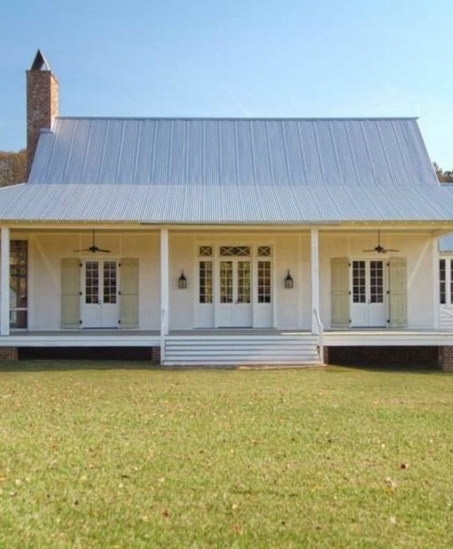 Raised creole cottage house plans for Raised cottage house plans