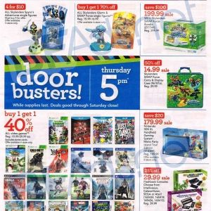 GameStops Black Friday ad leaks Xbox One PS4 bundle deals -  GameStop's Black Friday ad has apparently leaked, spilling dollar-saving deals all over the Internet's floor. The retailer will reportedly offer the Xbox One holiday bundle that